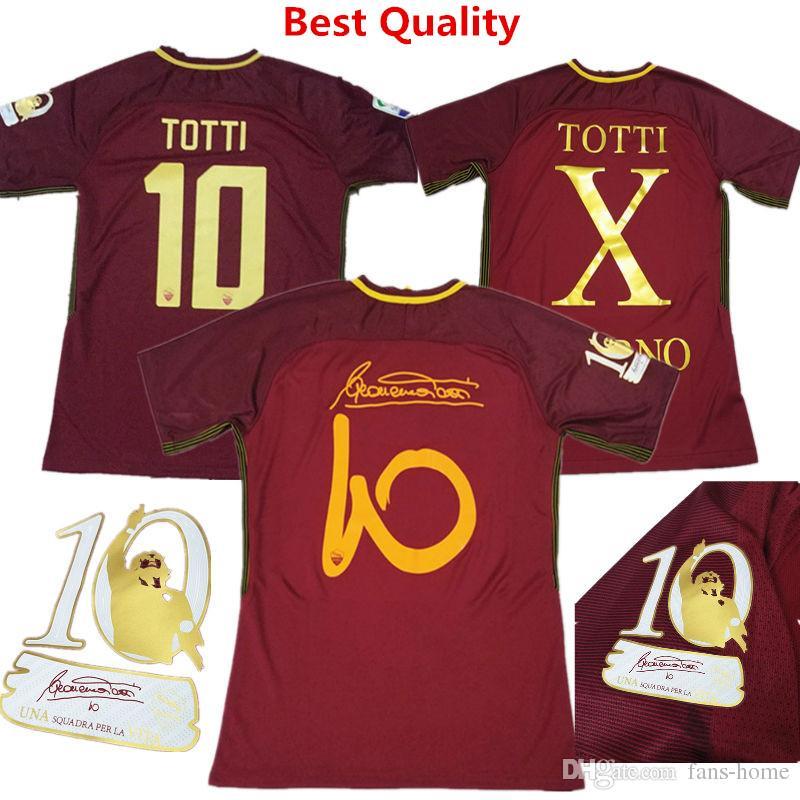 Compre 2017 Camisas De Futebol Roott Totti Aposentado Edição Especial  Jersey Italia Serie UM COLE CASTAN LJAJIC PJANIC Crianças Camisetas De Fans  Home d66e95851d785