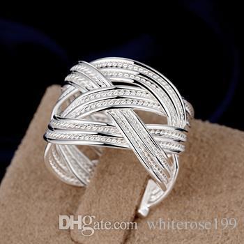 Commercio all'ingrosso - regalo di Natale di prezzo più basso al dettaglio, spedizione gratuita, nuovo anello di moda in argento 925 R08