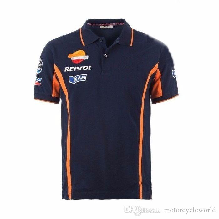 2017 2017 Repsol Gas Moto GP Team Polo Camiseta Racing Ropa Moto Motocicleta Camiseta