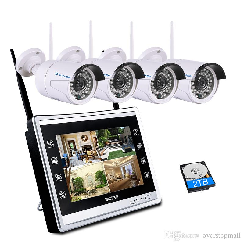 2 in 1 1080P 11 LCD Monitor Wireless CCTV System 2.0MP Indoor ...