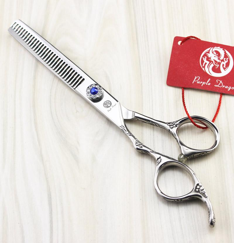 6.0inch drago viola JP440C mano sinistra forbici parrucchiere kit forbici capelli taglio cesoie barbiere forbici barbiere strumento, LZS0488