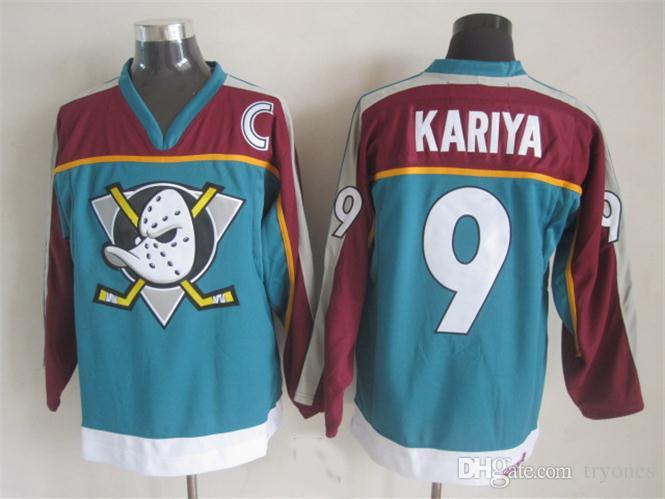 Vintage Anaheim Mighty Ducks Hockey Jerseys 8 Teemu Selanne 9 Paul Kariya 35 Jean-Sebastien Giguere 13 Selanne 1998 CCM Jersey