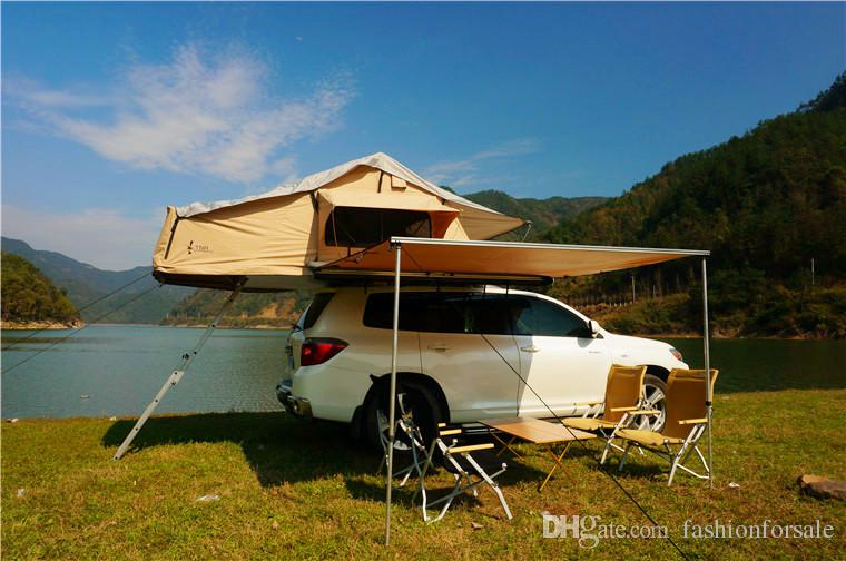 Outdoor Family C&ing Rooftop Tent Two Person Traveling By Car The Soft Top Canvas Waterproof Tents Roof Tent Car Tentco Tourism Naturehike Hammock Tent ... & Outdoor Family Camping Rooftop Tent Two Person Traveling By Car ... memphite.com