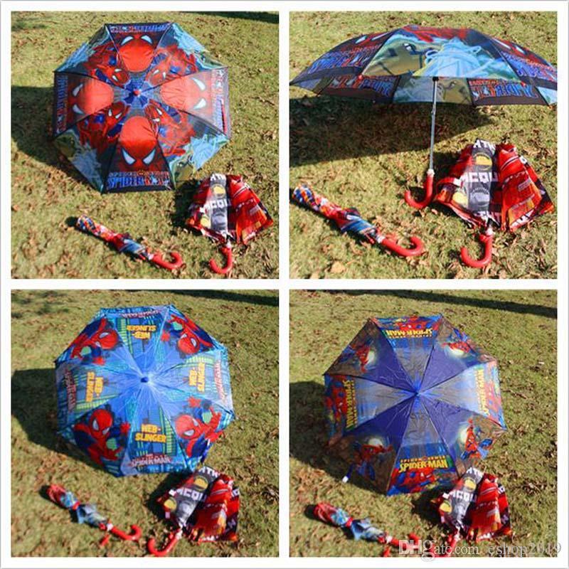 2017 kinder lieblings beliebte spiderman kind lieblings 28 cm faltbare regenschirm regenschirme und sonnenschutz