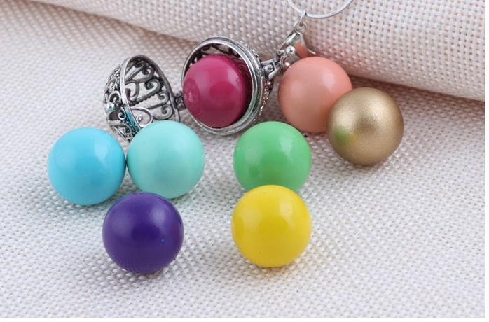 NEW 100% Nice Mexico style Hollow Baby Bola Harmony Ball Chime Pendant Pregnant necklaces Women Gifts Pregnant necklace