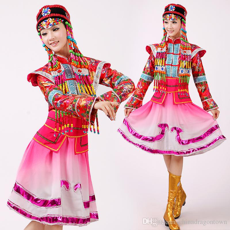New Fashion Women Mongolian Traditional Dance Clothes Classical Female Stage Performance Clothing Chinese Dance Costumes For Singers