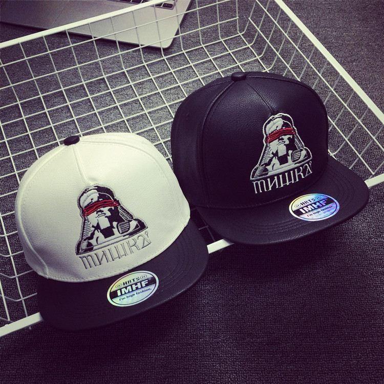 5bc506716a7 Portrait Embroidery Hip Hop Cap Tide Baseball Men Hat Flat Along A ...