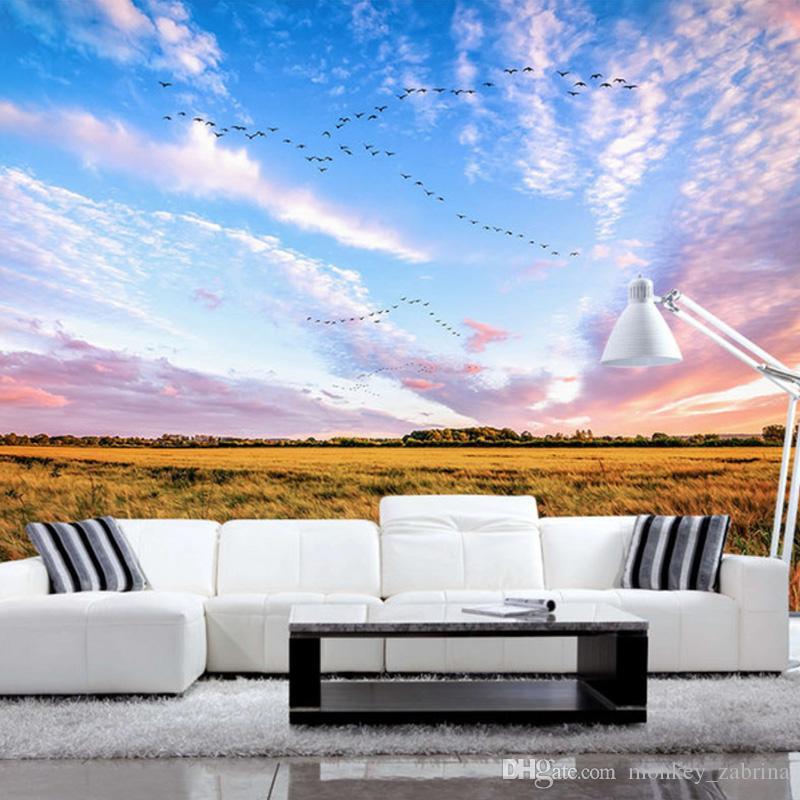Acquista nuvole rosee colore bellissimo scenario - Pittura sala da pranzo ...