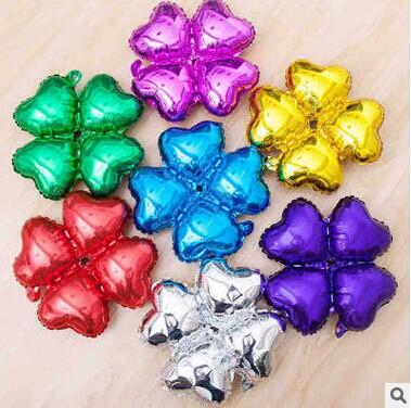 10pcs18-inch four heart-shaped aluminum foil balloon aluminum balloon arches balloon Clover Halloween Christmas gift for children