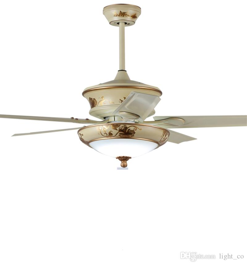 2019 American Retro Ceiling Fans With Led Lights Remote