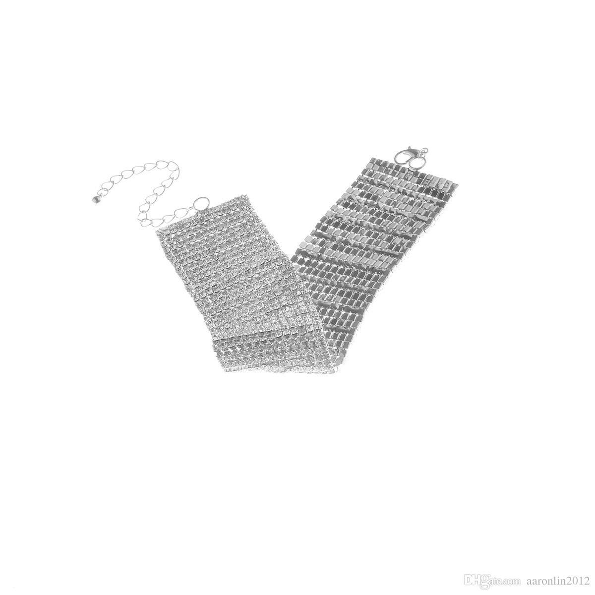 جديد تماما متعدد كريستال الخلخال سلاسل النساء حجر الراين بيان خلخال الساق سلاسل نادي ليلة حزب مجوهرات اكسسوارات 2017