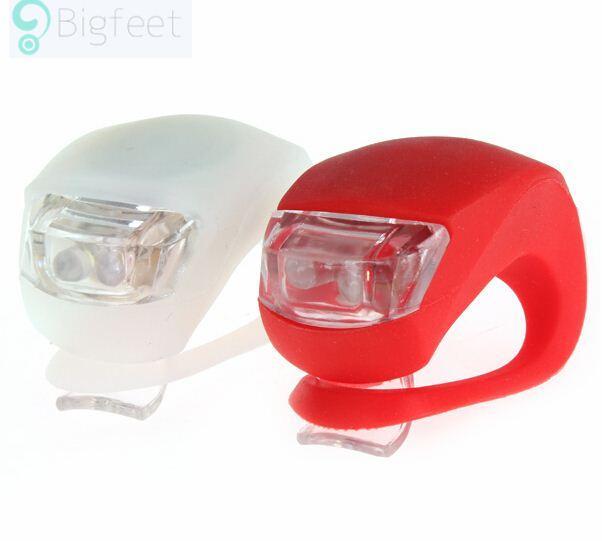 Mini Brillant Waterproof SILICON Bike Bicycle Cycling Beetle Warning Light LED Front Light Rear Tail Lamp free shipping BL8033