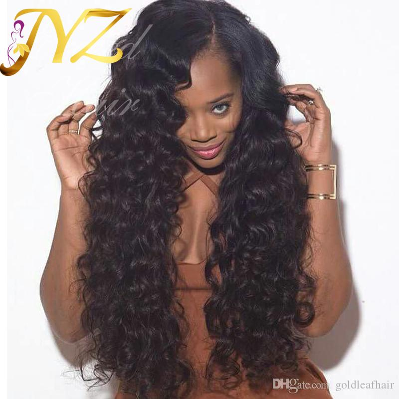 Pre Plucked Lace front wigs For Black Women Human Hair Lace Wigs Medium Size Cap Full Lace Wigs Free Shipping