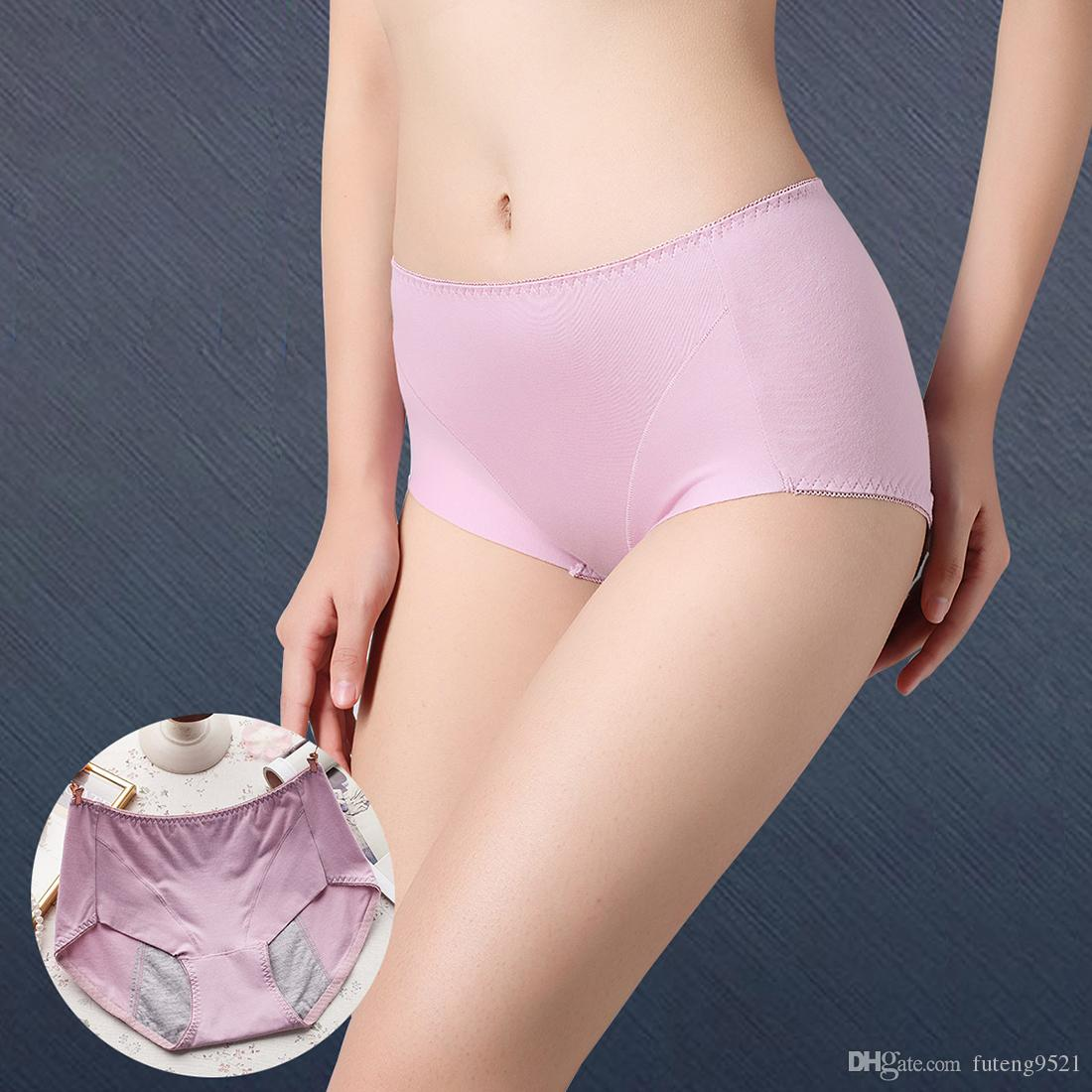 3e29431ea 2019 Pure Color Physiological Panties High Waist Women Briefs Sexy  Underwear Large Size Cotton Undies Seamless Hiphuggers For Female From  Futeng9521
