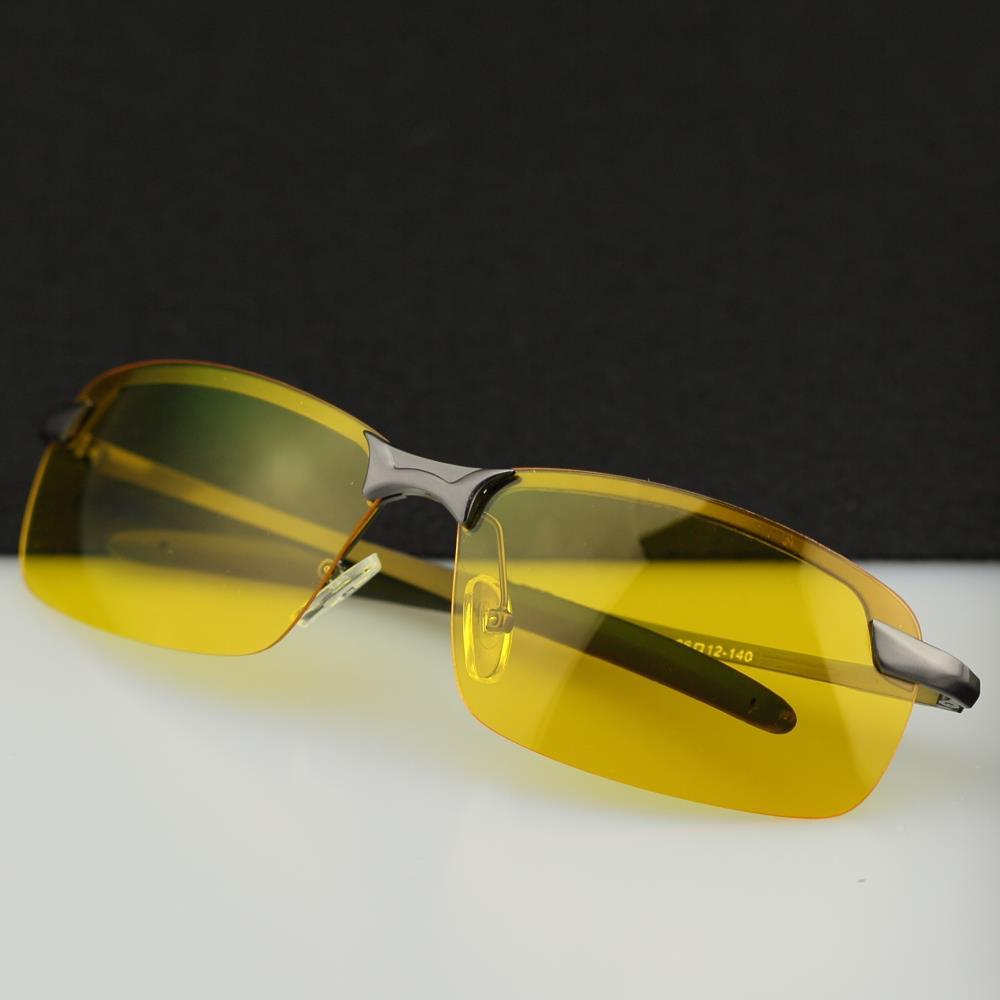 Wholesale- 2016 HD Professional Driving Glasses Night Vision Polarized Sun Glass for Driver Goggles Yellow Lens Sunglasses