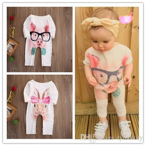 7379b4453 2019 2017 High Quality Kid Clothes Newborn Infant Baby Girl Bodysuit Rabbit  Pig Animal Romper Jumpsuit Outfits Sunsuit Clothes 0 24M From Tyfactory, ...