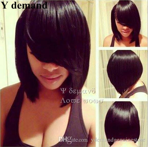 Les perruques brésiliennes de cheveux humains semblables aux perruques noires / marron pour les femmes noires Y demande
