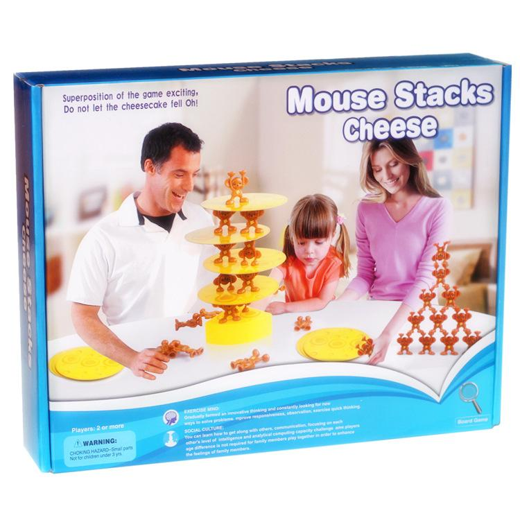 mouse stacks cheese mice game mouse stack cheese balancing toy