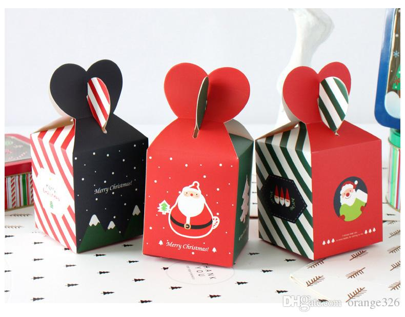 Christmas Candy Gifts.Merry Christmas Candy Box Santa Claus Paper Box Christmas Eve Apple Gift Bag Wedding Favors And Gifts Bag Xmas Decor