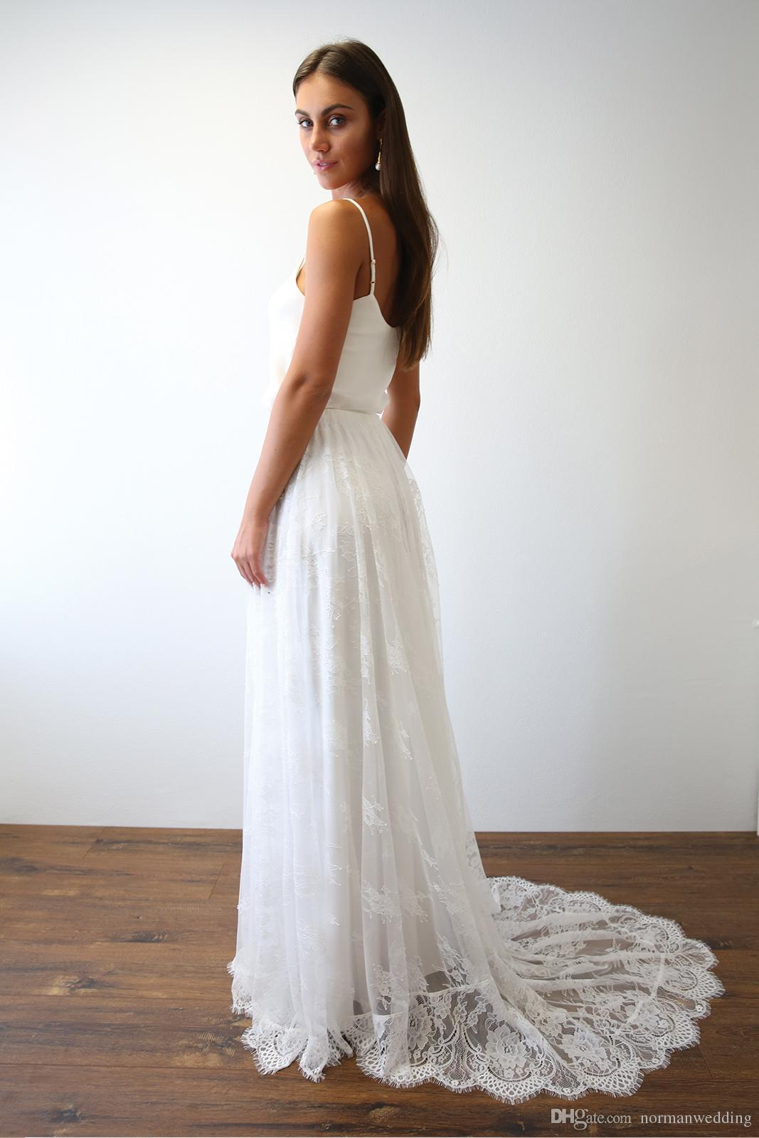 Discount modern spaghetti straps beach wedding dresses 2017 new discount modern spaghetti straps beach wedding dresses 2017 new arrival sleeveless lace wedding gowns simple bridal gowns for bride usa uk online wedding ombrellifo Gallery