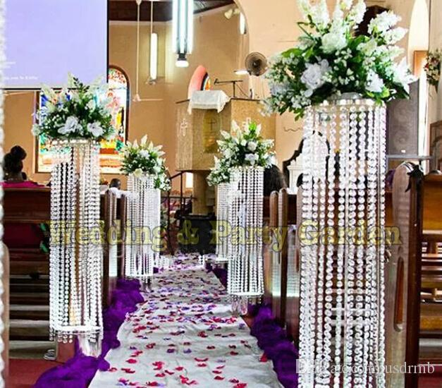 Best Wedding Centerpiece Crystal Column Pillar Flower