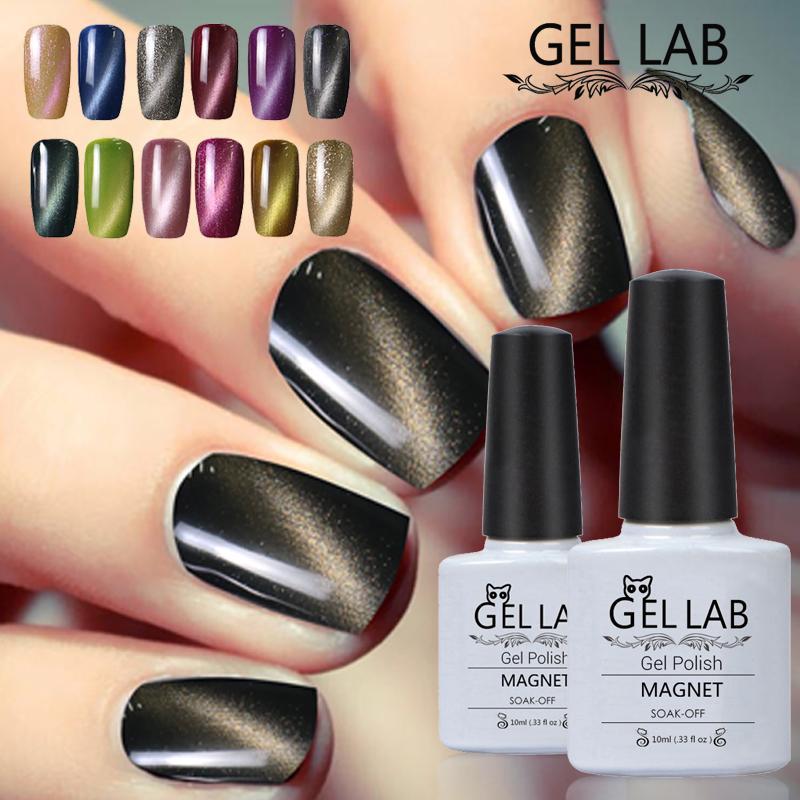 Wholesale Gel Lab 10ml Uv Soak Off Cat Eyes Magnetic Nail Gel Long ...