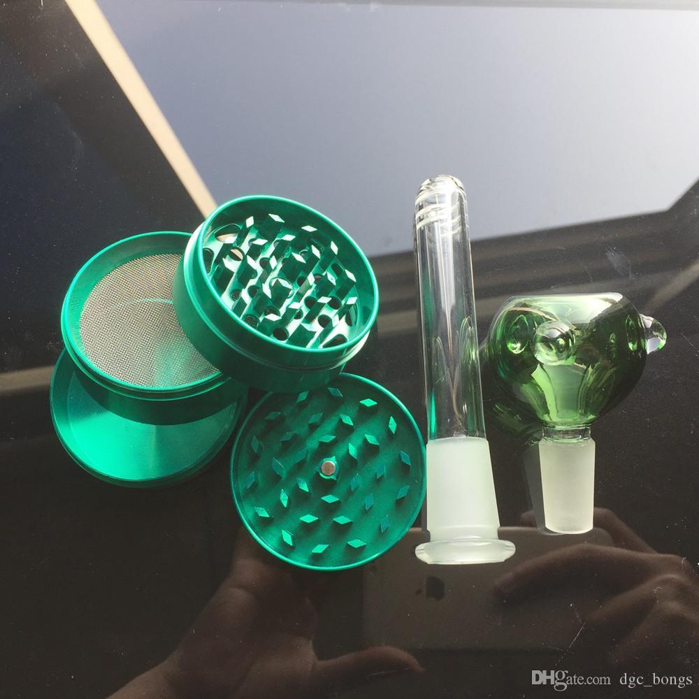Cam Bongs Çift Katmanlı Dört Kol Ağacı Percolator Nargile Standı 42 cm 18.8mm Eklem Buz Buharı Su Boruları GB1218