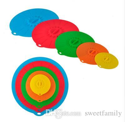 Universal Silicone Suction Lid-bowl Pan Cooking Pot Lid-silicon Stretch Lids Silicone Cover Kitchen Pan Spill Lid Stopper Cover