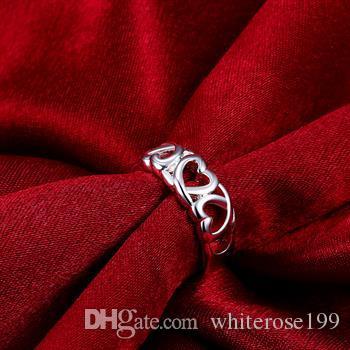 도매 - 소매 최저 가격 크리스마스 선물, 무료 배송, 새로운 925 실버 패션 반지 R090