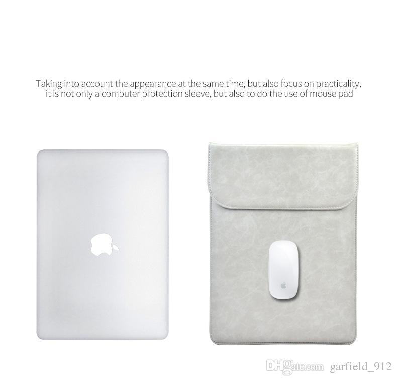 Borsa computer portatile in pelle PU MacBook Air 13 11 Pro 13 15 12 Borsa computer portatile Custodia notebook Custodia MacBook Custodia
