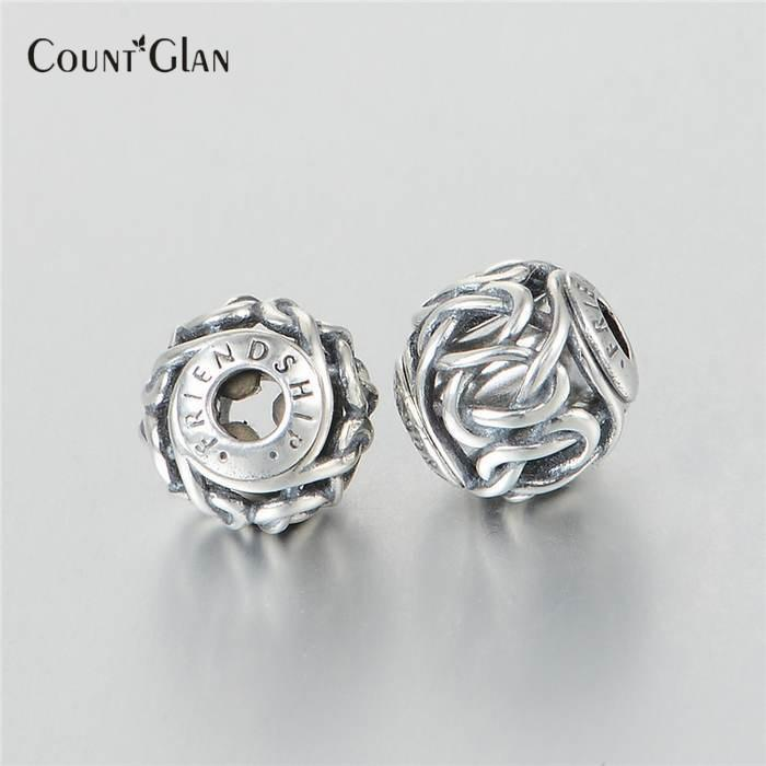 New Original 925 Sterling Silver Bead Essence Collection Friendship Charm Beads Fits Pandora Essence Charms Bracelet DIY Jewerly