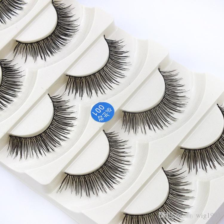 Soft Long Makeup Cross Thick 8 Styles False Eyelashes with Box Package Nautral 3D Handmade Lashes with Retail Box
