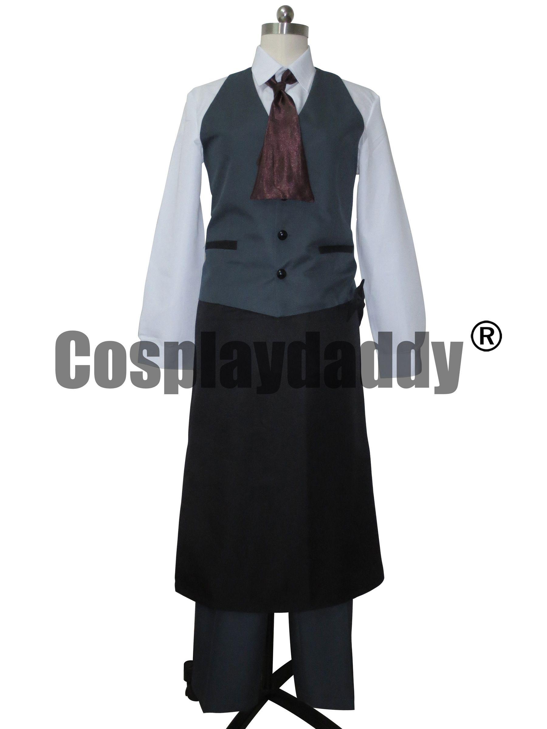 Tokyo Ghoul Ken Kaneki traje de cosplay uniforme personalizado para Coffeehouse Waiter