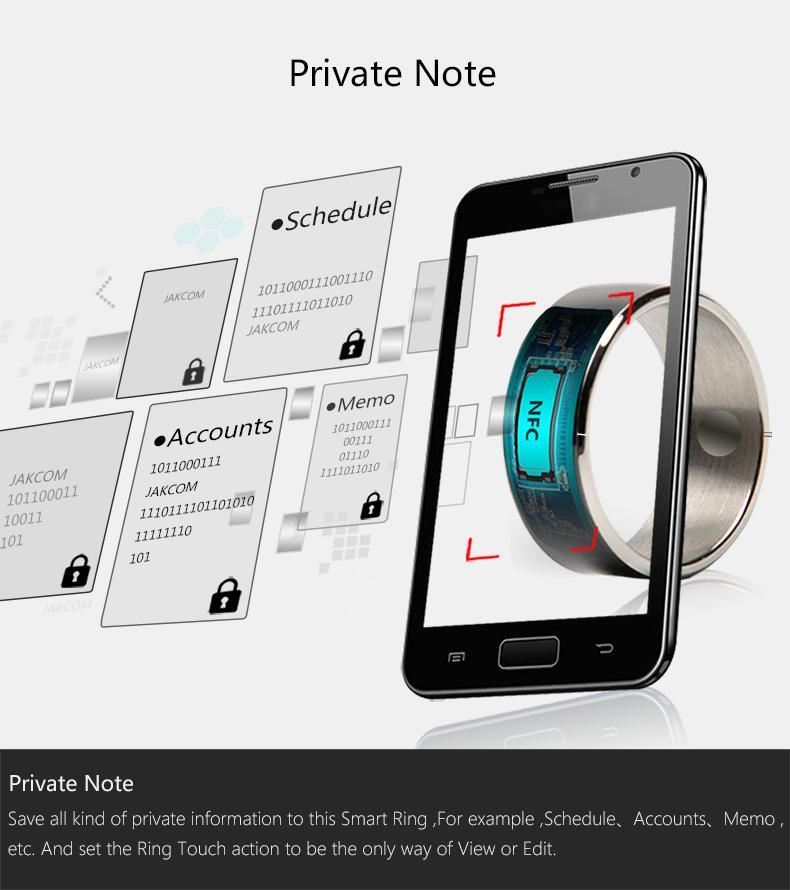 خواتم بالجملة للنساء الرجال حلقة الذكية لالروبوت الذكية زوجين خواتم متعددة الوظائف الأزياء NFC حلقات سوداء للNFC سامسونج XIAOMI HTC LG