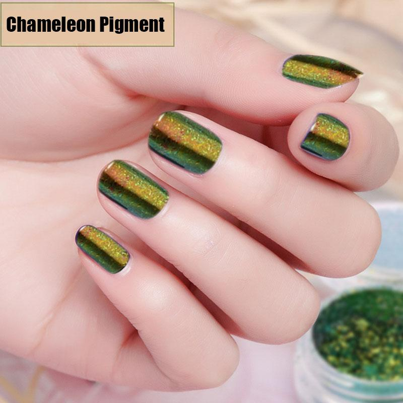 New 0.3g Optic Chameleon Flakes Mirror Effect Powder Nail Powder ...