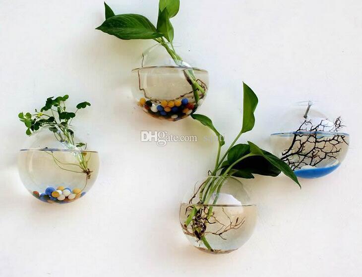 Jardim Pendurado Vaso De Flor Bola De Vidro Vaso Terrário Parede Fish Tank Aquarium Container Casa