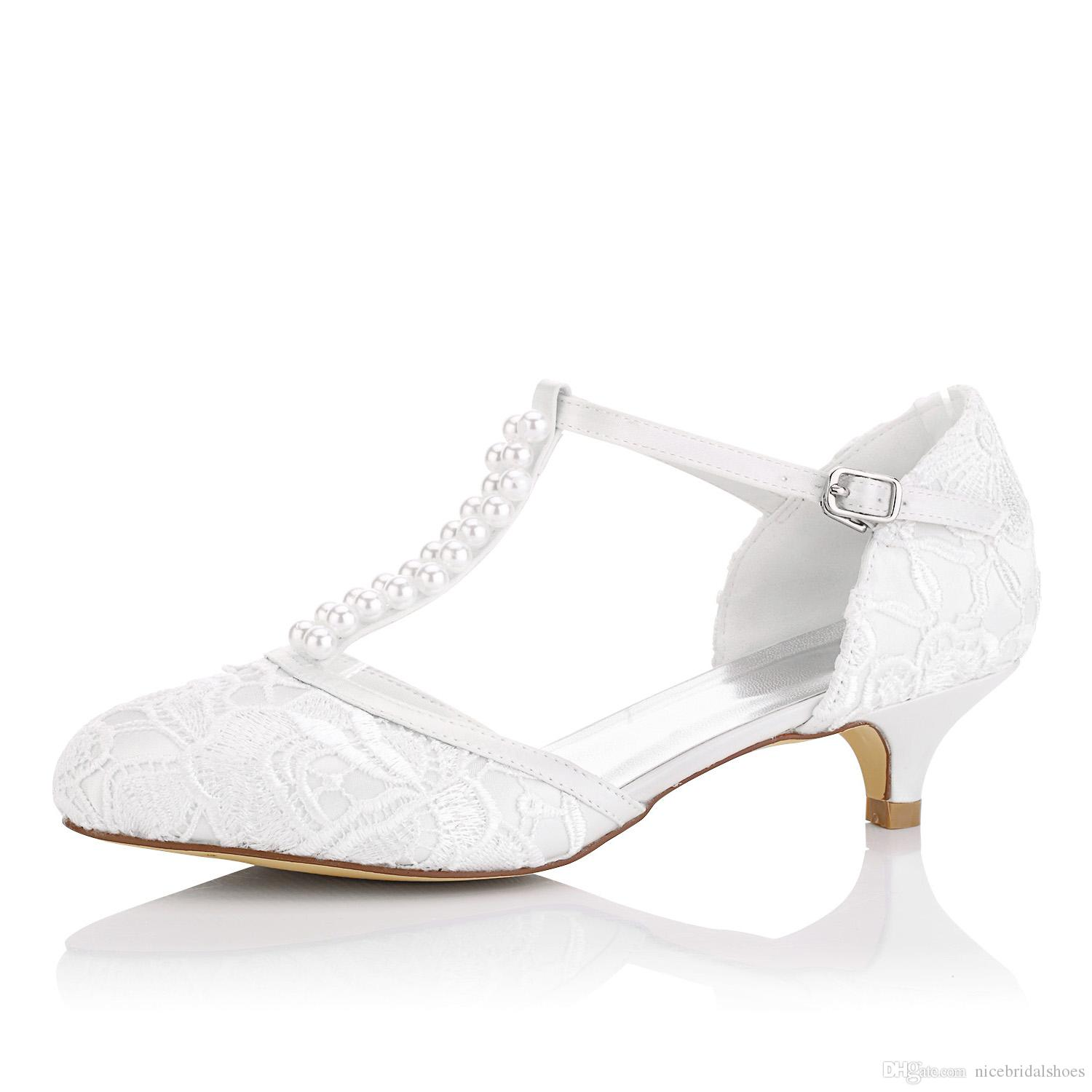 Nice Little Heel Lace Upper Dyeable Wedding Dress Shoe Bridal Shoes ...