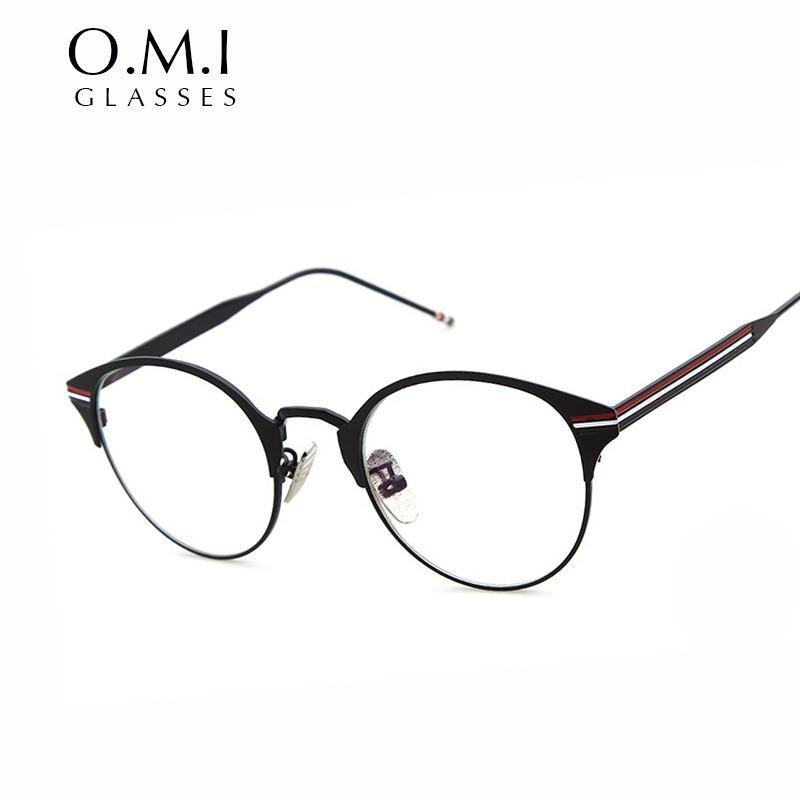 Compre Claro Moda Gafas Hombre Mujer Corea Claro Lente Nerd Gafas ...