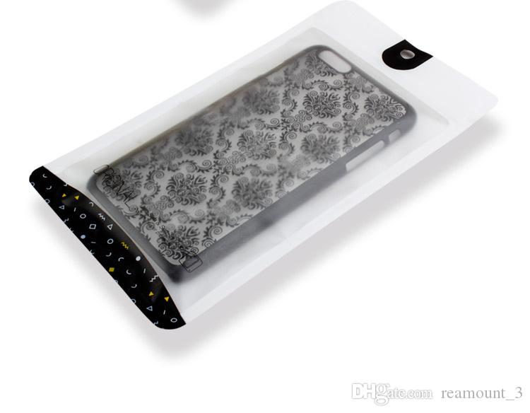 Plastic zipper Clear black Retail Packaging bag for iphone4 s4 s5s samsung s2/s3 i9300 cell phone case package bags