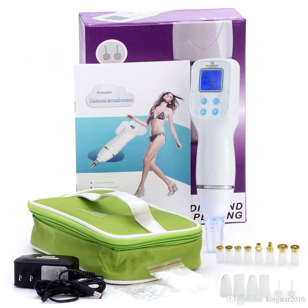 Nueva Llegada 110-240 V Dispositivo de Spa Facial Anti-envejecimiento de Peeling de Diamantes Multifunción Dispositivo de Dermabrasión para Peeling de Piel Máquina de Cuidado Facial