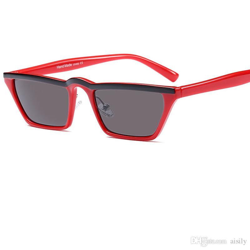 89f8bf4fc5 Fashion Small Square Sunglasses Women Fashion Brand Gray Lens Sun ...