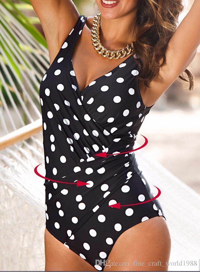 7fef2e84c5 2019 AAA New One Piece Swimsuit Women Plus Size Swimwear Retro Vintage  Bathing Suits Beachwear Print Swim Wear Monokini 4XL From  Fine craft world1988