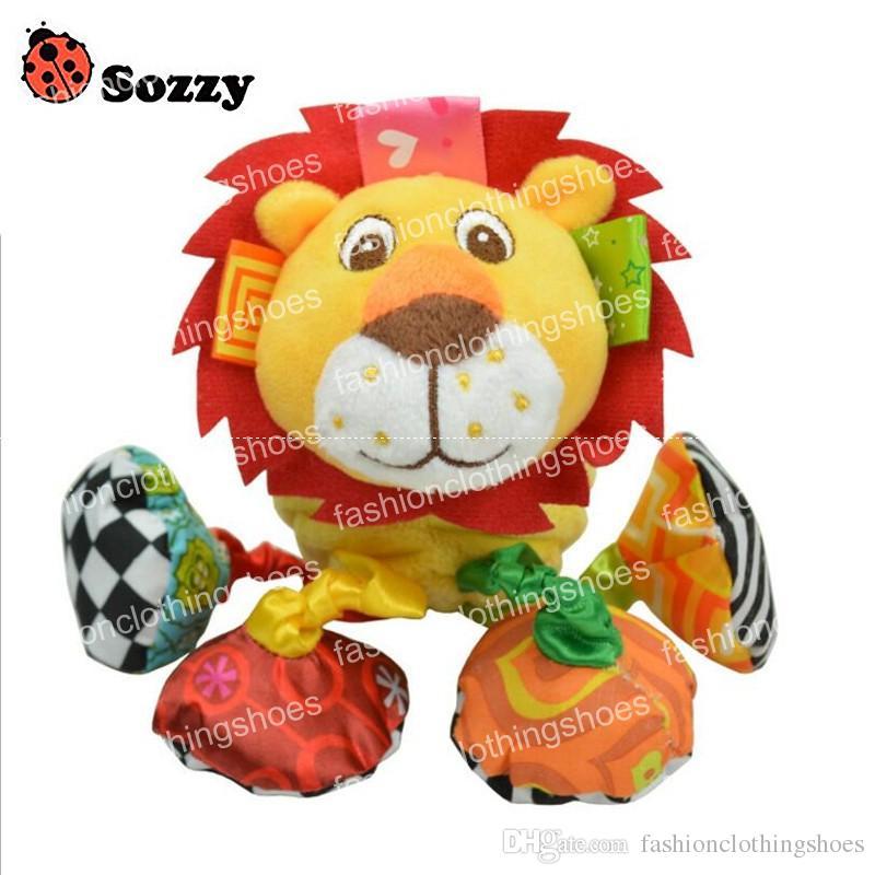 SOZZY BABY VIBRADO PELUSH LEON LEON TOY TOTE TRANSCLE RINCLE SONIDO 18cm Toy Relleno suave Multicolor Multifunción Juguete