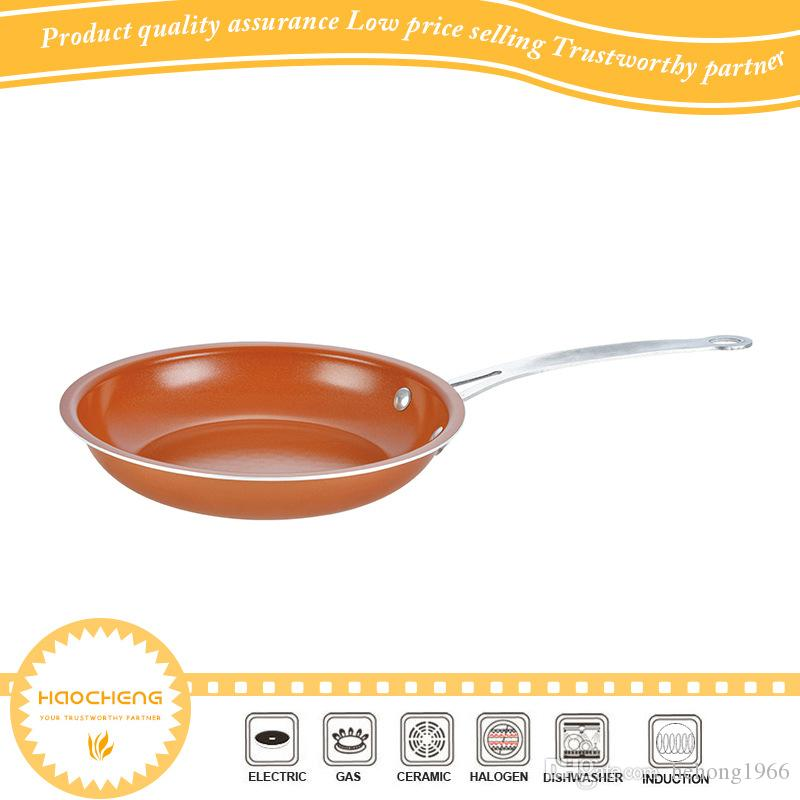 Copper Pans With Ceramic Coating Non Stick Frying Pan Fried Egg Breakfast Baking Cookware Bottom Electromagnetic Oven 32sj F R