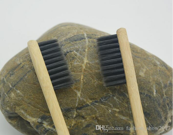 Whole Sale NEW Natural Bamboo Toothbrush Bamboo Charcoal Toothbrush Low Carbon Bamboo Nylon Wood Handle Toothbrush