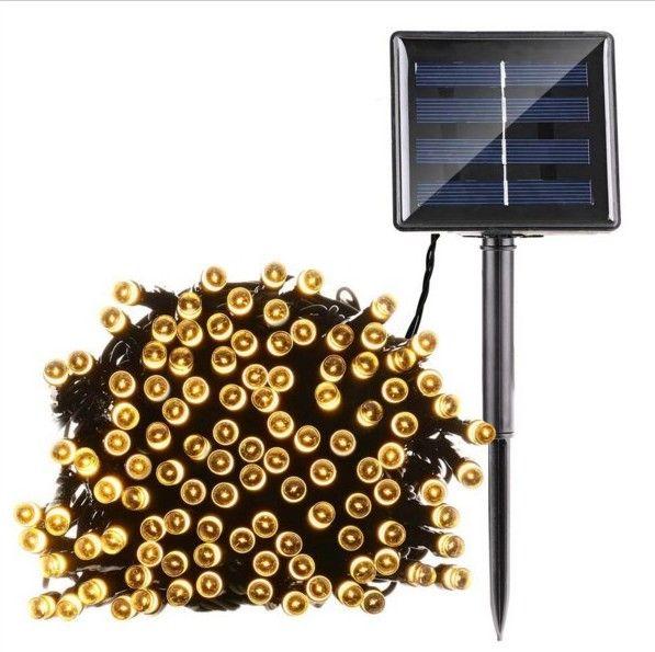 10M Solar Power Outdoor 100 LED String Lights Lampada da giardino Illuminazione natalizia