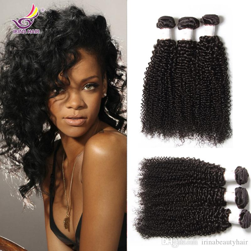 Beautiful Afro Kinky Curly Hair For Africa Woman 3 Bundles Indian