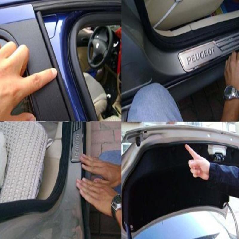 3 metri / lotto Guarnizione porta auto Guarnizione adesiva a tenuta stagna in gomma D-Type