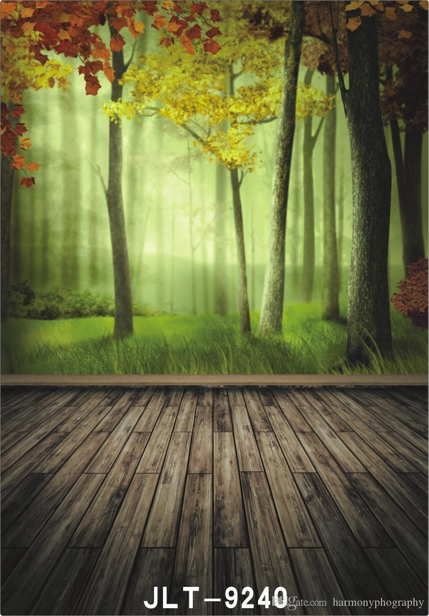 2019 Froest Tree Grassland Wallpaper Wooden Floor