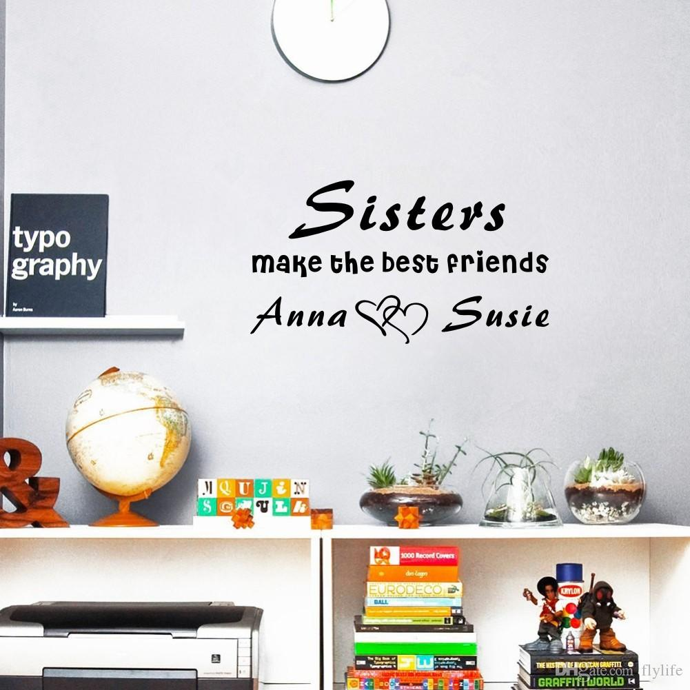 Custom Made Personalized Sisters Or Brothers Name Make The Best - Make custom vinyl wall decals